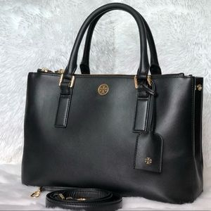 ✨Tory Burch Black Leather Satchel